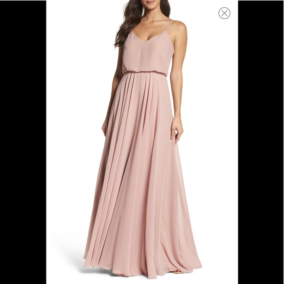1d25e30f79f5 Jenny Yoo Dresses | Jenny Too Inesse V Neck Gown Whipped Apricot 14 ...